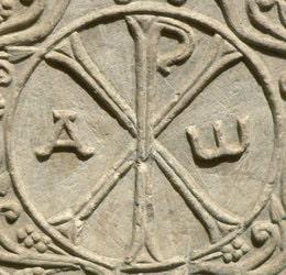 Deux majuscules grecques Χ (khi) et Ρ (rhô) sont les deux premières lettres du mot Christ